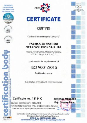 FHO-KLONDAIK-Certificate-ISO-9001-2015-en
